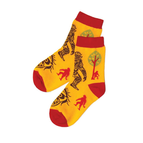 Kids Socks - Sasquatch by Francis Horne Sr., Coast Salish