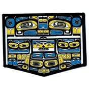 Large Embroidered Patch - Chilkat Thunderbird by Corey Bulpitt