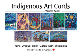 Art Cards: Leah Marie Dorion - Winter Series (Set of 9)