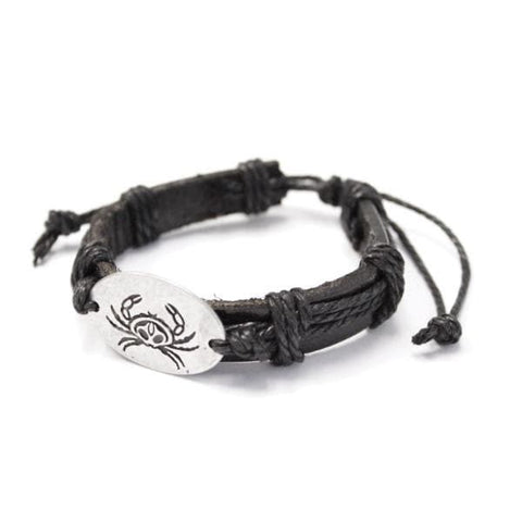 Leather Bracelet - Crab by Paul Windsor