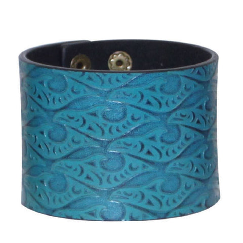 Leather Cuff - Salmon Run by Dylan Thomas