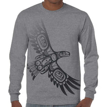 Load image into Gallery viewer, Long Sleeve Shirt - Soaring Eagle by Corey Bulpitt