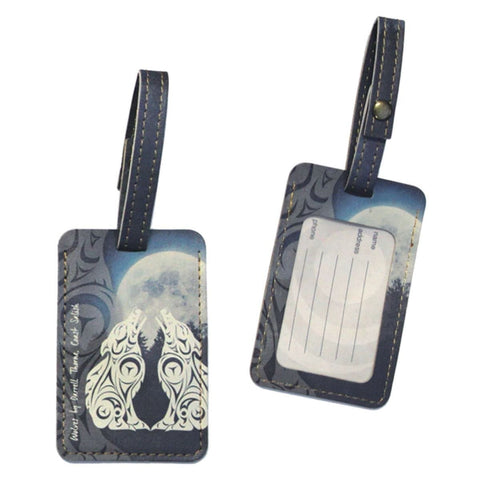 Luggage Tag - Wolves by Darrell Thorne