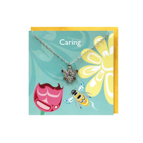 Pewter Charm Greeting Card - Bee by Paul Windsor