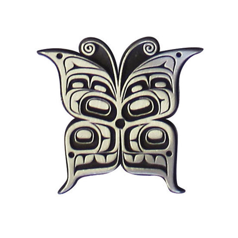Pewter Magnet - Butterfly by Kwiaahwah Jones