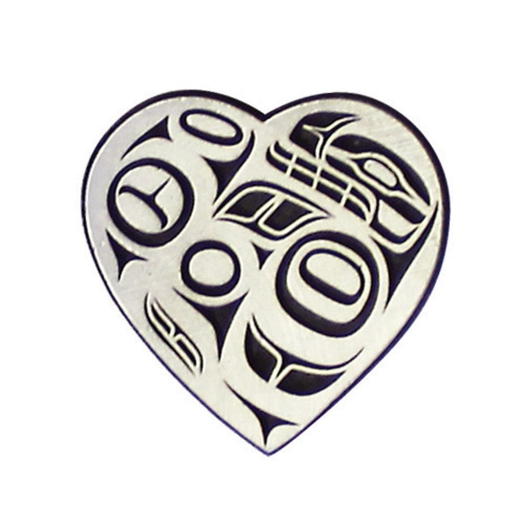 Pewter Magnet - Abstract Heart by Ben Houstie