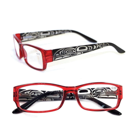 Raven by Trevor Angus - Reading Glasses - Black/Red +1.5