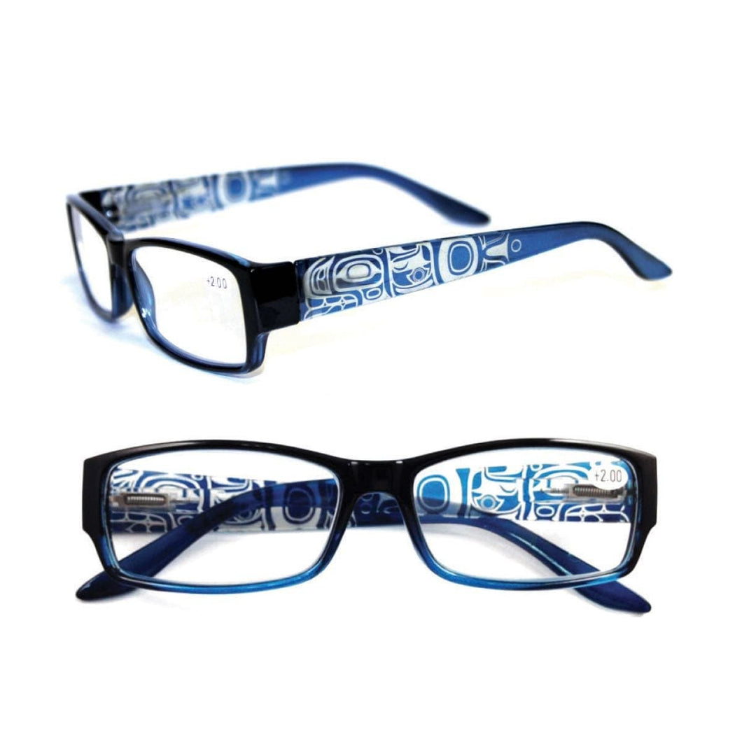 Whale by Corey W. Moraes - Reading Glasses - Blue - +2.00