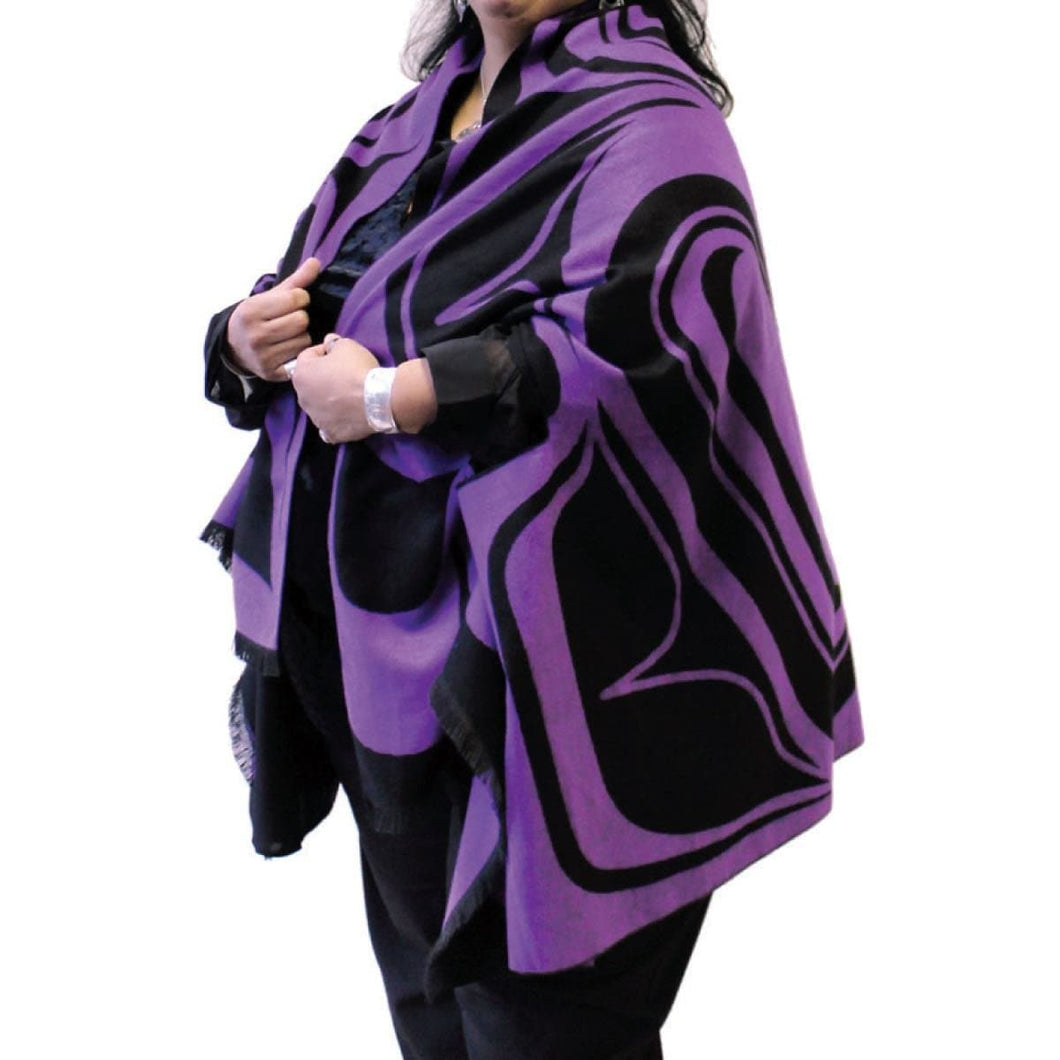Reversible Fashion Cape - Eagle by Roger Smith (Black/Purple)