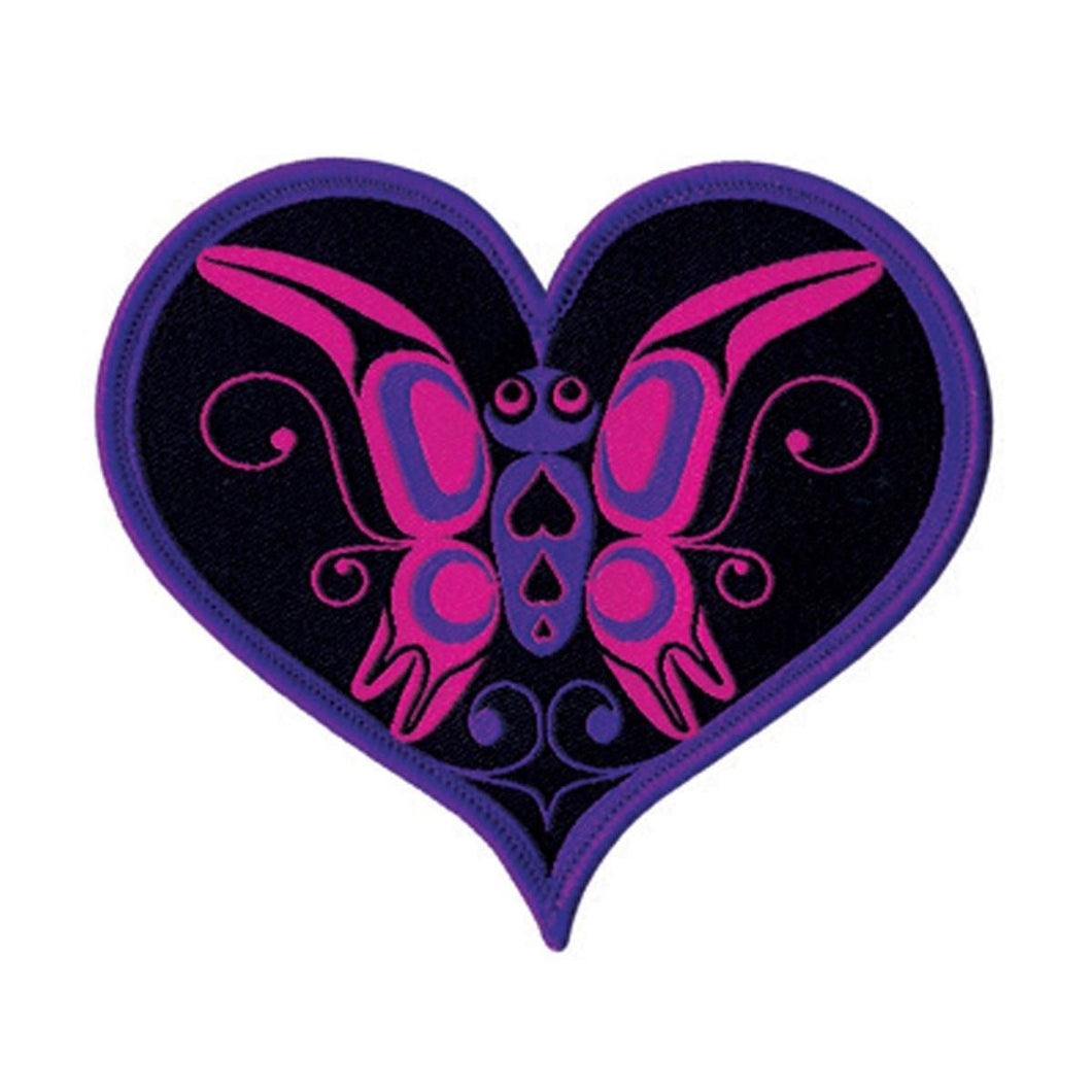 Embroidered Patch - Butterfly Heart by Ryan Cranmer