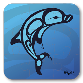 Strong Learners Puzzle: Bill Helin - Dolphin (9 Pieces)