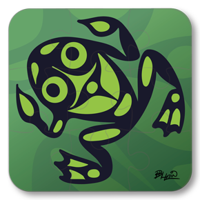Strong Learners Puzzle: Bill Helin - Frog (9 Pieces)