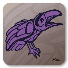 Strong Learners Puzzle: Bill Helin - Raven (9 Pieces)