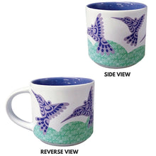 Load image into Gallery viewer, White Mug - Hummingbird by Joe Wilson-Sxwaset, Coast Salish