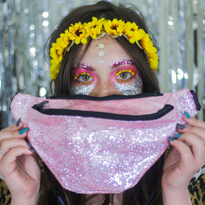Pink Glitter Fanny Pack - Kandy Pack