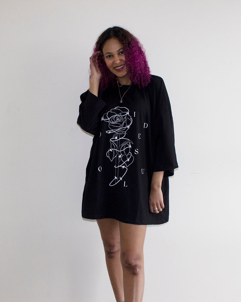 Oversized Graphic Tees | black t-shirts