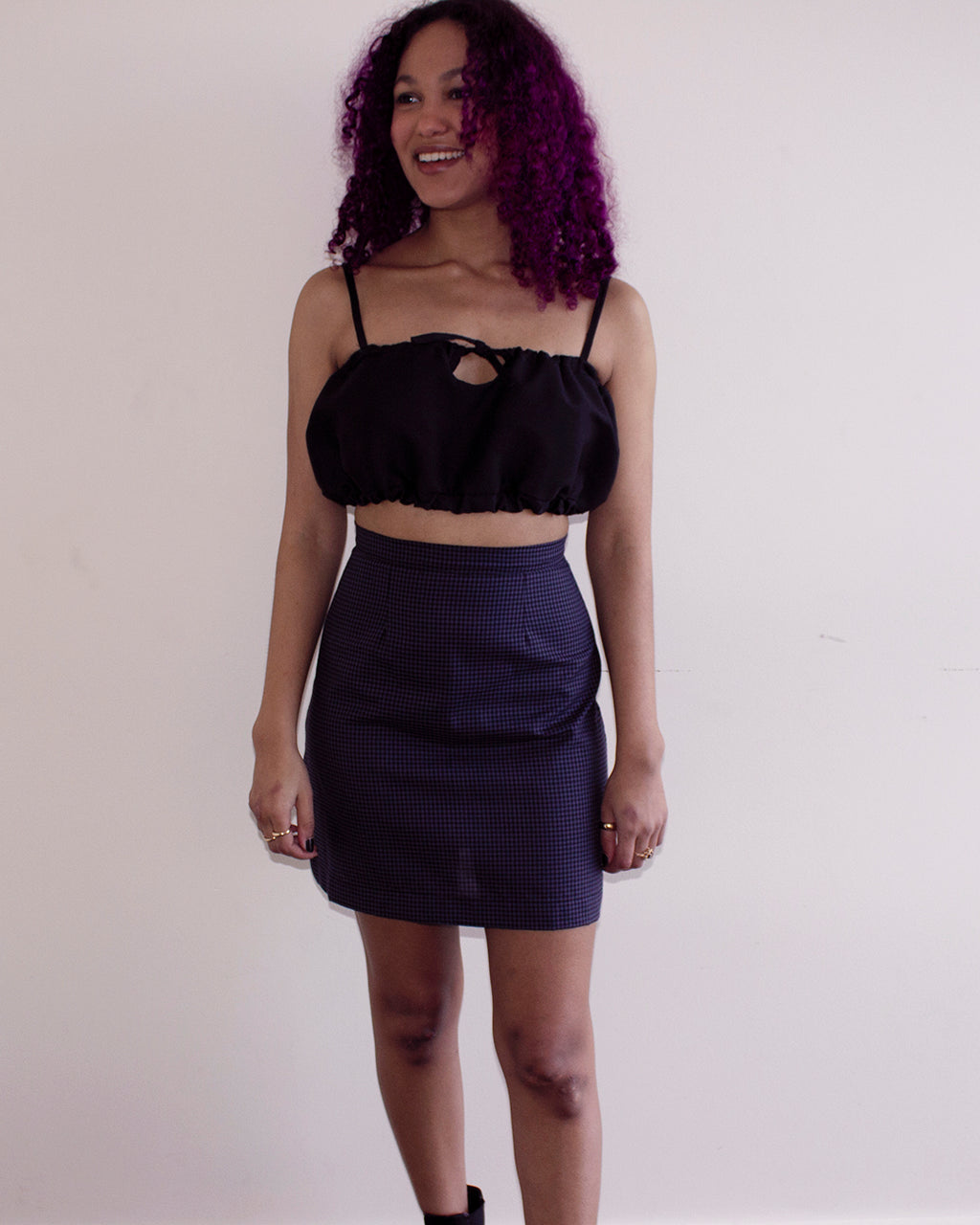 Crescent Top| Black bra top with elastic waistband
