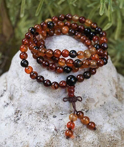 Gemstone Mala Prayer Beads ( 108 ct ) Divine Connection Wishes