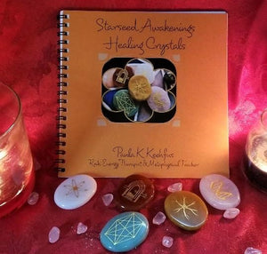 STARSEED AWAKENINGS HEALING CRYSTALS w/ Instruction Book~Healing & Enlightenment