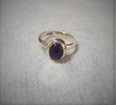 Lepidolite & Sterling Silver Ring ~ Size 6 ~ Emotional Balance