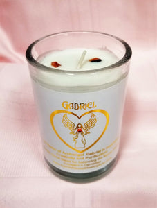 Archangel Intention Jar Candle ~ Pure Eco Soy w/Crystals ~ Your Choice