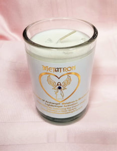 Archangel Intention Jar Luminaries ~ Pure Eco Soy Candle w/Gems ~ Your Choice