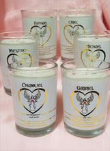 Load image into Gallery viewer, Archangel Intention Jar Luminaries ~ Pure Eco Soy Candle w/Gems ~ Your Choice