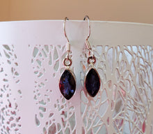 Load image into Gallery viewer, Iolite Drop Earrings in Sterling Silver ~ Enhance Psychic Abilities