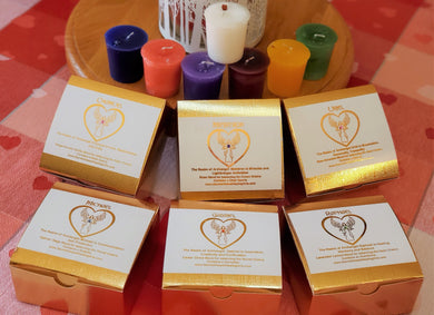 Archangel Votive Intention Candles Box of 4 - Your Choice ~ Reiki-Blessed
