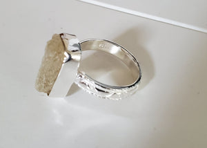 Golden Scapolite Ring Sterling Silver ~ Stunning Energy