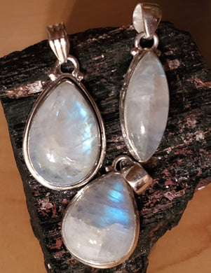Moonstone Pendant ~Choose Style ~Beautiful Intuitive Sacred Feminine Stone