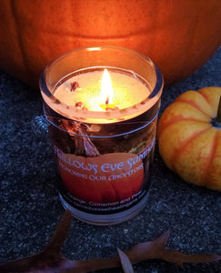 "All Hallows Eve Eco Soy Jar Candle 3x4"" SALE - Halloween Ancestor Night Samhain"