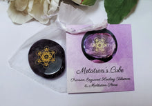 Load image into Gallery viewer, METATRON'S CUBE Palm Stone ~ Miracles Lightbringer Activation w/Romance Card