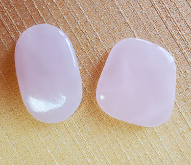 Pink Calcite Freeform Meditation Palm Stones ~ Peace & Serenity