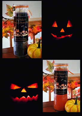 All Hallows Halloween 7 Day Jar Vigil Candle Samhain Ancestor Night SALE! ~ Choice