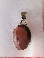 Load image into Gallery viewer, Imperial Jasper Oval Pendant ~Sterling Silver ~ Protection, Vitality, Strength
