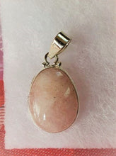 Load image into Gallery viewer, Morganite Oval Pendant Trauma Healing Self Love ~ Choose ~ Natural Pink/Peach