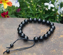Load image into Gallery viewer, Obsidian (Black) 10mm String Bracelet ~ Protection Talisman