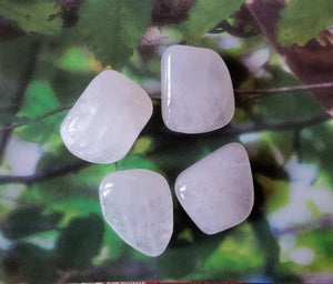 Petalite, Baby Pink Tumbled Balancing Hormones & Soothing Mood Swings