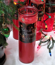 Load image into Gallery viewer, YULETIDE or WINTER SOLSTICE Jar Vigil Candle w/Herbs/Gemstones~ Choice
