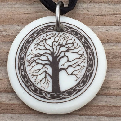 Sacred Tree of Life Porcelain Pendant with Romance Card