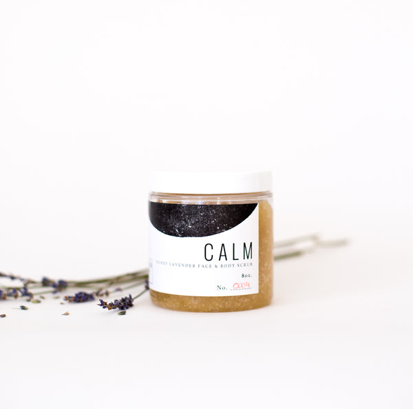CALM: Honey Lavender Face & Body Scrub