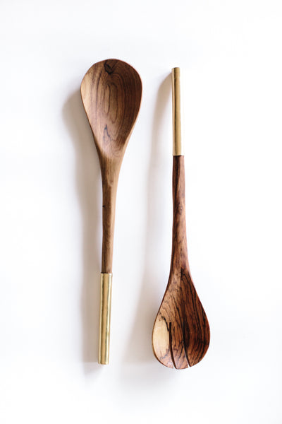 Shaba Utensil Set: Brass