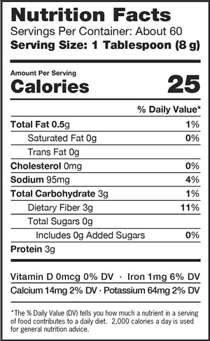 Nutrition Facts ProBiotein Bag 1 lb (454g)