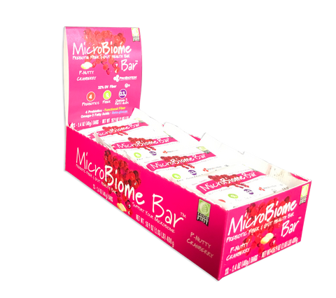 MicroBiome Bar™ – P-Nutty Cranberry - Box of 12 Bars