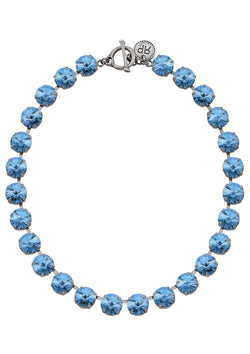 Light Sapphire Rivoli Necklace Sky blue swarovski Crystals rebekah price designs