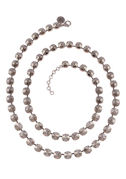 Ramona Necklace Silver Shade Swarovski Crystals Rebekah Price jewelry