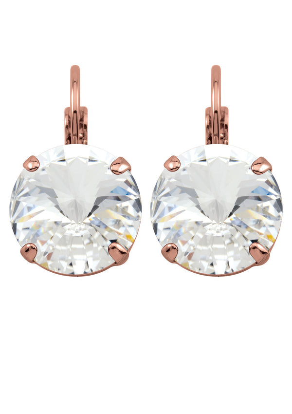 Crystal Rivoli Drops Rose Gold swarovski crystals rebekah Price Jewelry