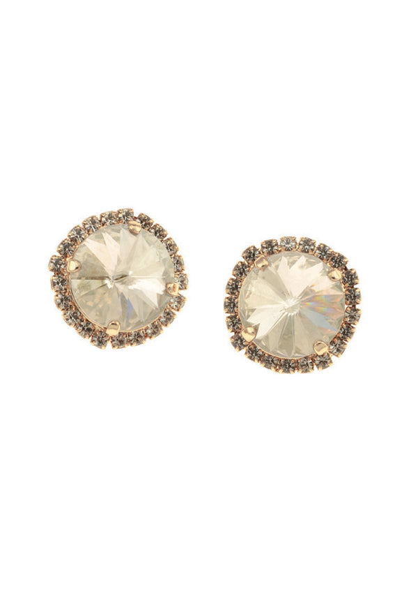 Silver Shade Rivoli Clip-on Earrings