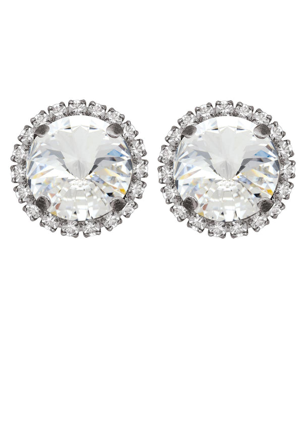 Crystal Rivoli Studs with Strass